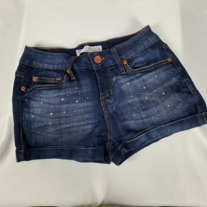 Junior's Rolled Cuff Shortie Shorts